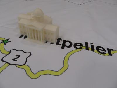 3D State House replica 2