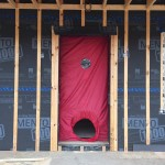 Blower door test air sealing VIA