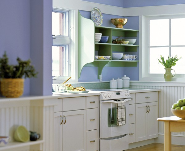 Kitchen periwinkle paint