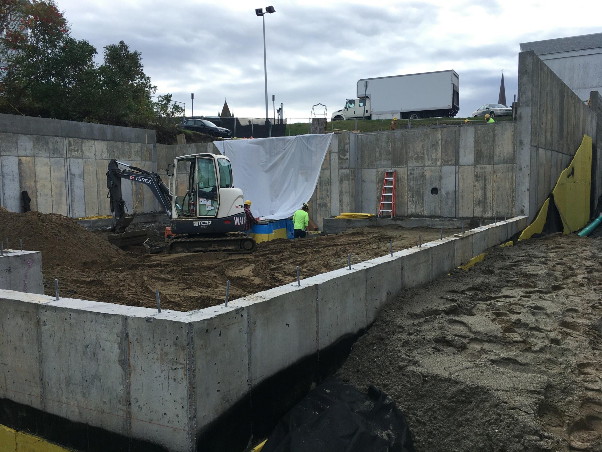 Morrisville apartment building foundation